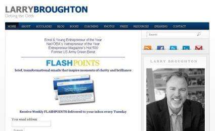 Larry Broughton - Keynote Speaker & Best Selling Author - Custom WordPress Design
